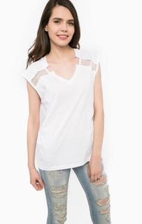 Белая футболка из хлопка MET
