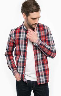 Рубашка из хлопка в клетку с карманом Tom Tailor Denim