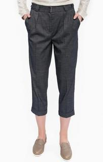 Укороченные брюки синего цвета Kocca