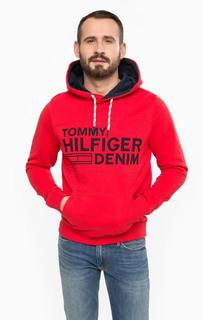 Толстовка из хлопка с карманом-кенгуру Hilfiger Denim