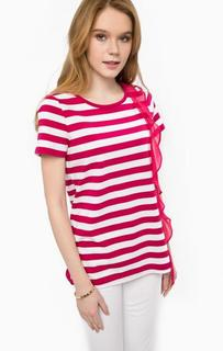 Хлопковая футболка в полоску Liu Jo