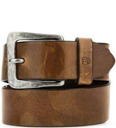 Кожаный ремень с массивной пряжкой Miguel Bellido