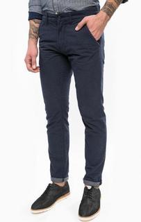 Синие брюки-чиносы с пятью карманами Tom Tailor Denim
