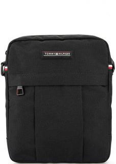 Черная текстильная сумка через плечо Tommy Hilfiger