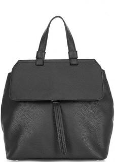 Сумка-рюкзак из мягкой кожи черного цвета Abro