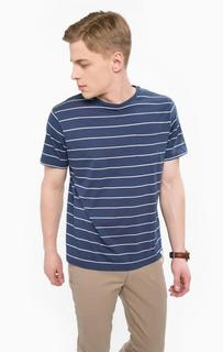 Синяя хлопковая футболка в полоску Lerros