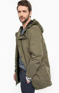 Хлопковая куртка с капюшоном Tom Tailor