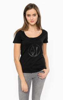 Черная футболка с короткими рукавами Armani Jeans