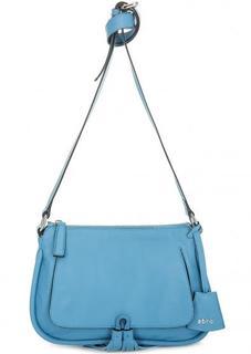 Синяя кожаная сумка через плечо Abro