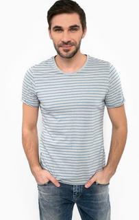 Хлопковая футболка в полоску S.Oliver