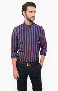 Хлопковая рубашка прямого кроя Fred Perry
