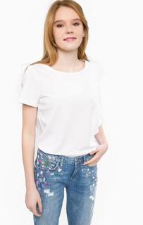 Белая хлопковая футболка Liu Jo
