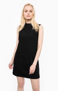 Черное платье с накладными карманами Mavi