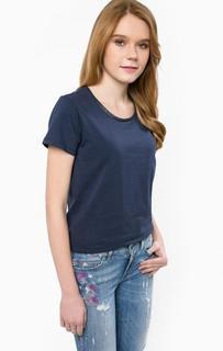 Синяя футболка из хлопка Liu Jo