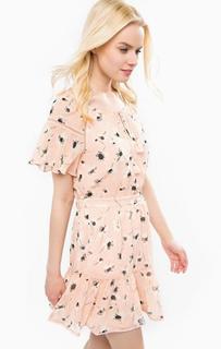 Короткое розовое платье Juicy Couture