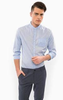 Хлопковая рубашка с длинными рукавами Drykorn