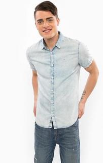 Джинсовая рубашка с короткими рукавами Calvin Klein Jeans