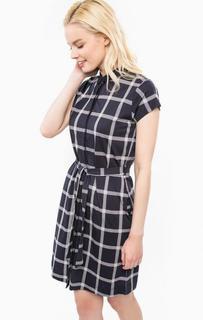 Платье из хлопка в клетку с поясом Barbour