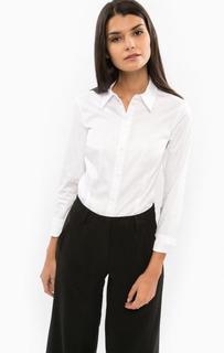 Классическая белая рубашка с приталенным кроем Drykorn