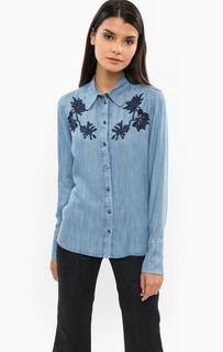 Джинсовая рубашка с декоративной вышивкой Drykorn