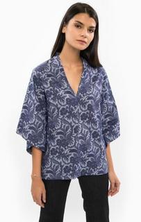 Синяя блуза свободного кроя Drykorn