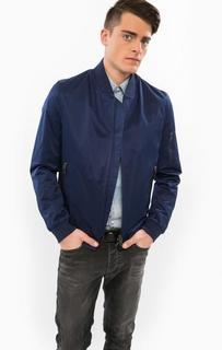 Синяя куртка-бомбер на молнии Drykorn