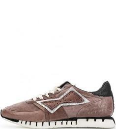 Кожаные кроссовки с нашивками A.S.98