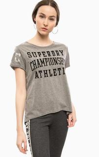 Серая футболка с круглым вырезом Superdry