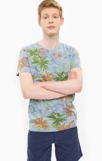 Хлопковая футболка с цветочным принтом Pepe Jeans