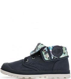Синие текстильные ботинки Palladium