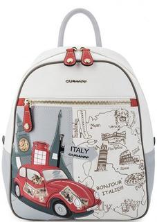 Кожаный рюкзак с одним отделом на молнии Curanni