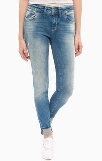 Синие джинсы скинни со стандартной посадкой Mavi