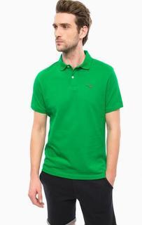 Зеленая футболка поло из хлопка Barbour