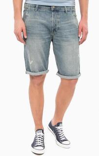 Джинсовые шорты с потертостями Wrangler
