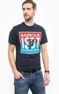 Хлопковая футболка с короткими рукавами Barbour
