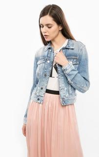Джинсовая куртка с декоративными рваными деталями Calvin Klein Jeans