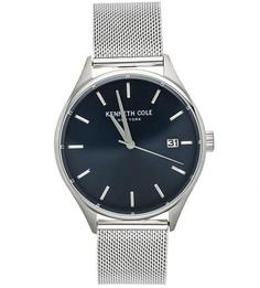 Часы круглой формы с металлическим браслетом Kenneth Cole