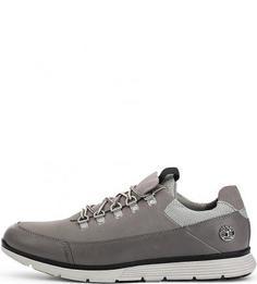 Кожаные кроссовки серого цвета Timberland