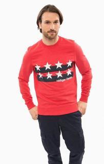 Красный свитшот с принтом Hilfiger Denim