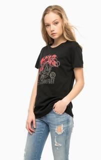 Черная футболка из хлопка Replay