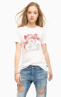 Белая футболка из хлопка Replay