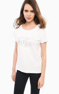 Плотная футболка белого цвета Liu Jo Sport