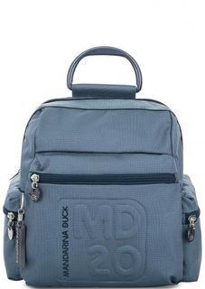 Синий текстильный рюкзак с одним отделом на молнии Mandarina Duck