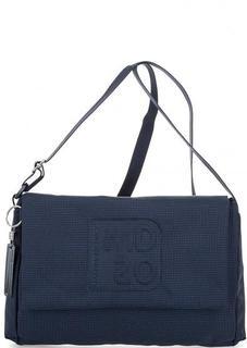 Синяя текстильная сумка через плечо Mandarina Duck