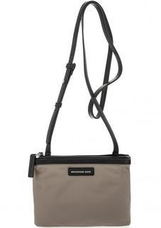 Серая текстильная сумка на молниях Mandarina Duck