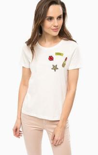 Хлопковая футболка с нашивками Vero Moda