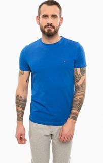 Синяя хлопковая футболка Tommy Hilfiger