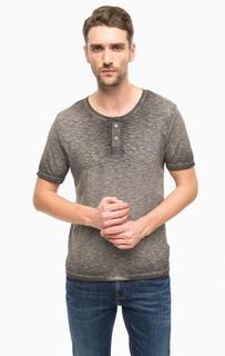 Серая хлопковая футболка Cinque
