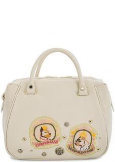 Кожаная сумка с короткими ручками и съемным плечевым ремнем Curanni