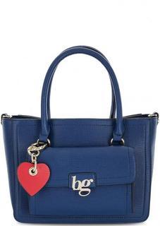 Синяя сумка из искусственной кожи с двумя ручками Blugirl